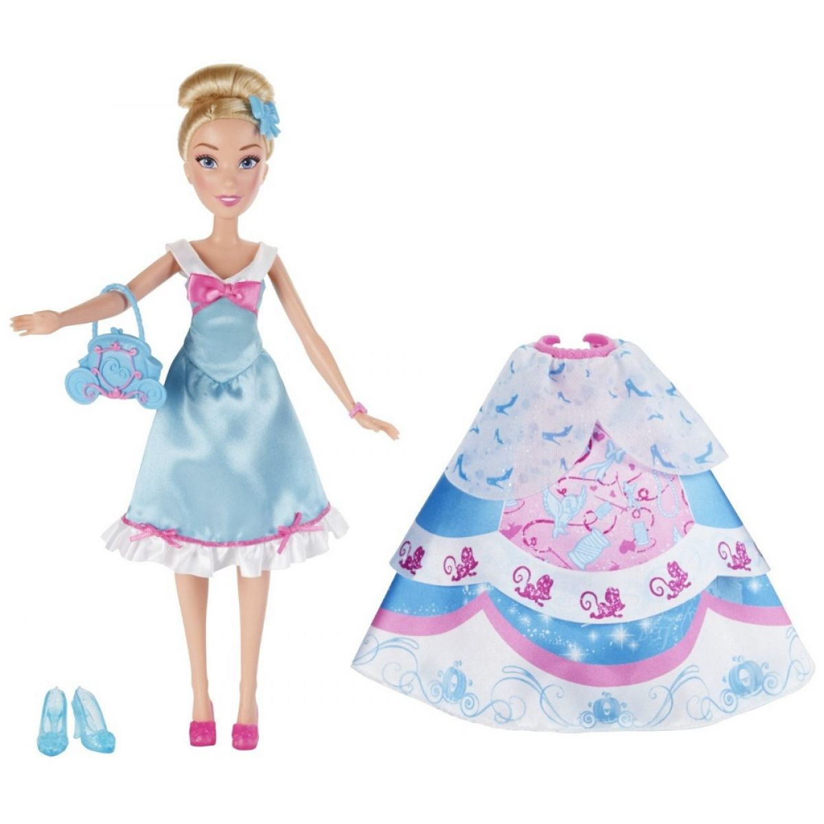 Hasbro Disney Princess Panenka s náhradními šaty - Popelka