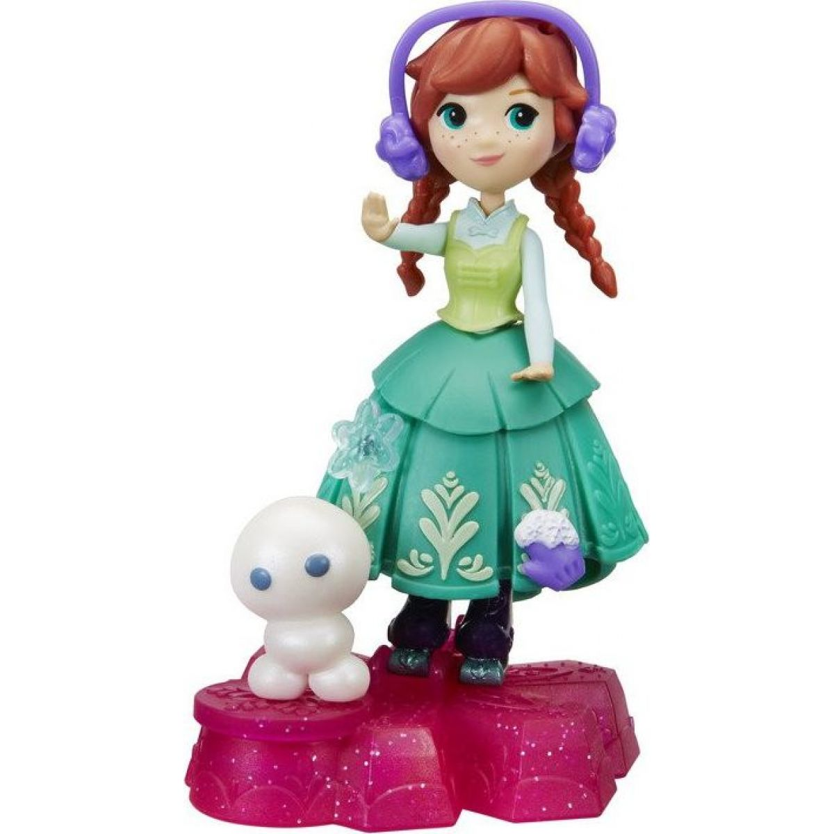 Hasbro Ledové království Mini panenka s podstavcem a kamarádem Anna