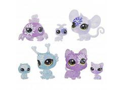 Hasbro Littlest Pet Shop Květinová zvířátka 7ks fialová hortenzie