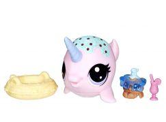Hasbro Littlest Pet Shop Maminka s miminkem a doplňky Ambrosia Narwhalz 2-48