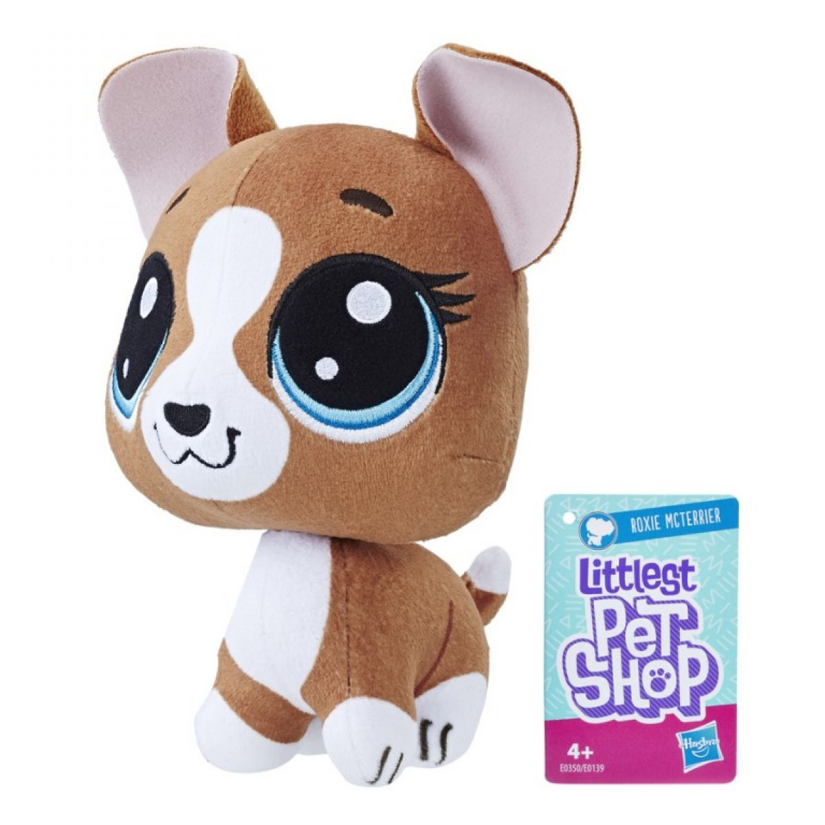 Hasbro Littlest Pet Shop Plyšák s pohyblivou hlavou Roxie Mcterrier