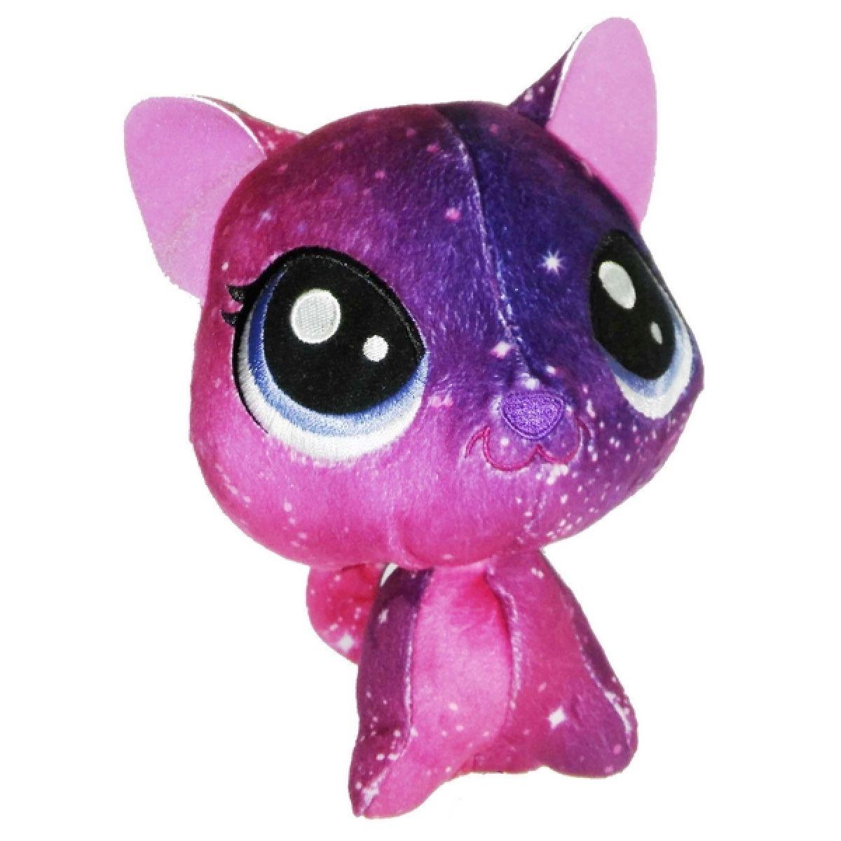 Hasbro Littlest Pet Shop Plyšák s pohyblivou hlavou Stellar Fuzzcat