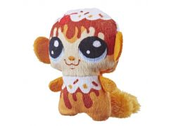 Hasbro Littlest Pet Shop Plyšové zvířatko ukryté v pitíčku oranžový