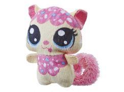 Hasbro Littlest Pet Shop Plyšové zvířatko ukryté v pitíčku světle růžový