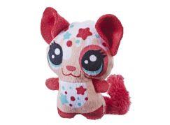 Hasbro Littlest Pet Shop Plyšové zvířatko ukryté v pitíčku tmavě růžový