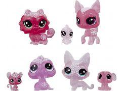 Hasbro Littlest Pet Shop Zvířátka z ledového království 7ks červená