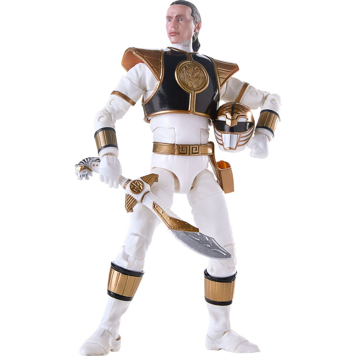 Hasbro Power Rangers 15 cm figurka s výměnnou hlavou Mighty Morphin White Ranger