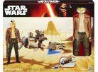 Hasbro Star Wars Epizoda 7 Figurka a vozidlo - Speeder Bike a Poe Dameron 2