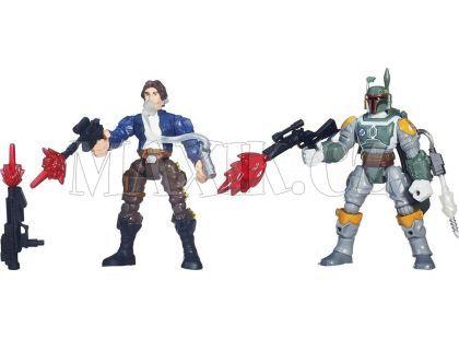 Hasbro Star Wars Hero Mashers Akční balíček - Han Solo vs. Boba Fett