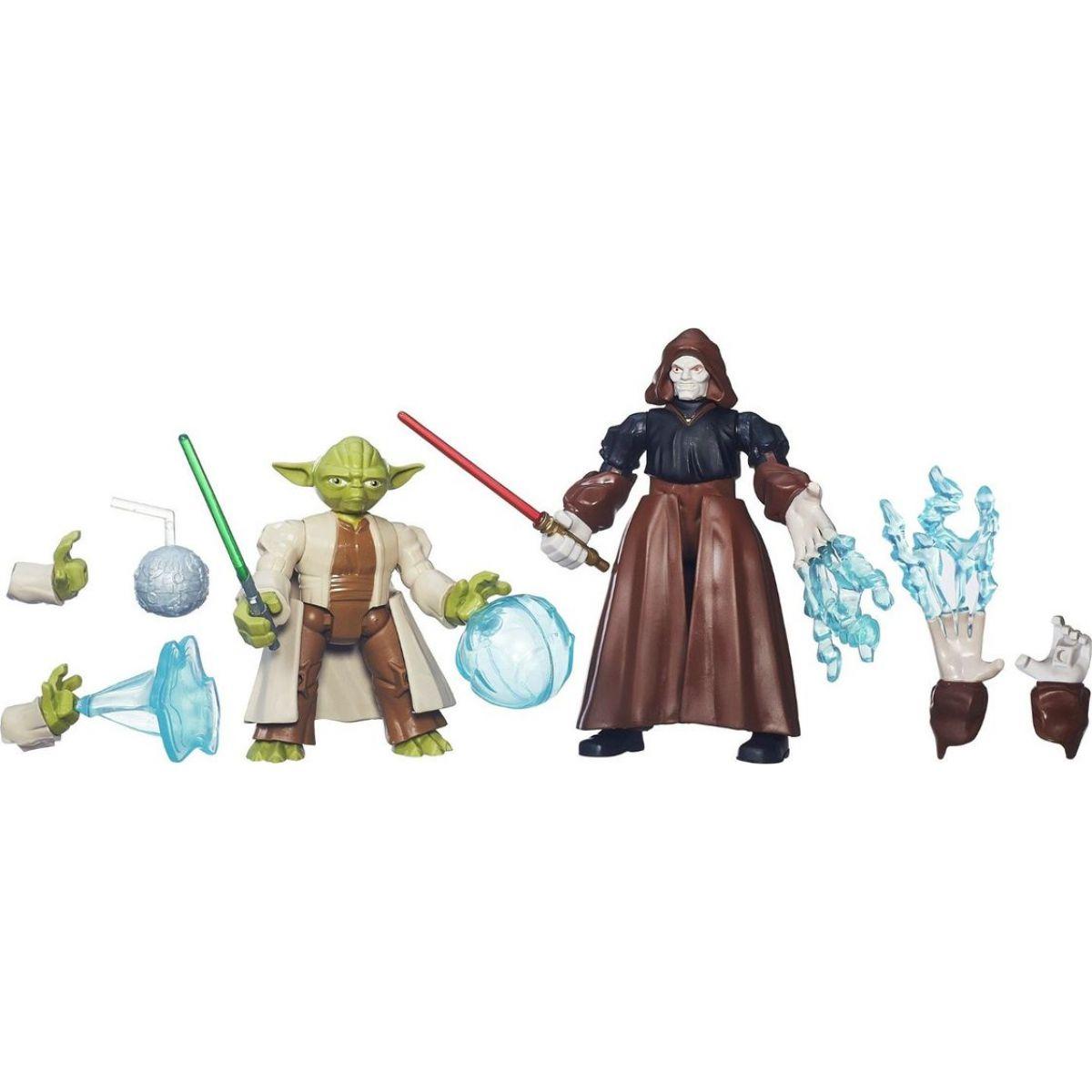 Hasbro Star Wars Hero Mashers Akční balíček - Yoda vs. Emperor Palpatine