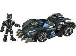 Hasbro Super Heroes figurka a auto s interaktivními prvky Black Panther