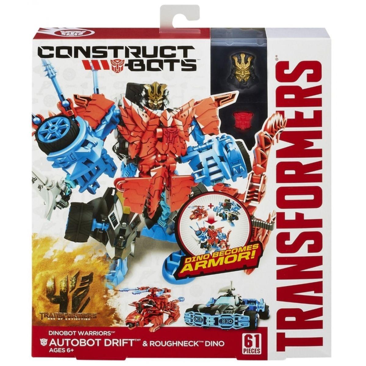 Hasbro Transformers 4 Construct Bots Autobot Drift a Rougneck Dino #3