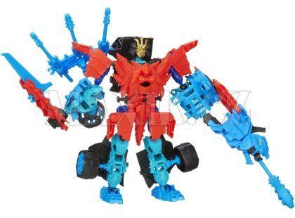 Hasbro Transformers 4 Construct Bots Transformer se zvířetem - Autobot Drift a Roughneck Dino