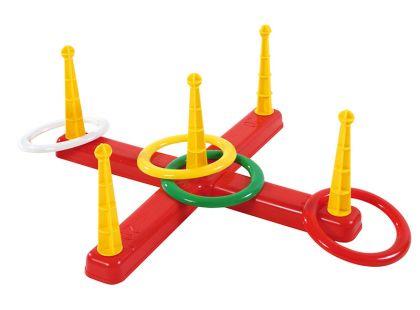Házecí hra kroužky v síťce