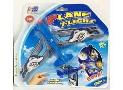 Házecí letadlo s přísavkou modré