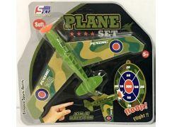 Házecí letadlo s přísavkou zelené