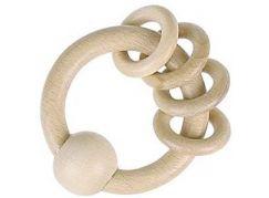 Heimess Dřevěný kroužek s kroužky, přírodní