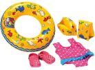 Heless Set na plavání pro panenky - Růžové sandálky