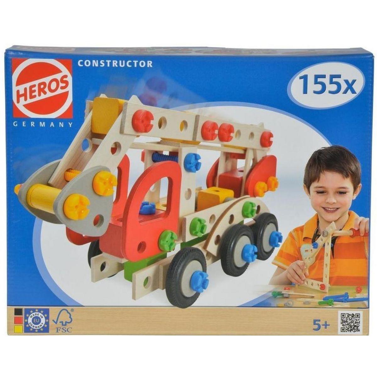Heros Constructor Hasičské auto 155dílů