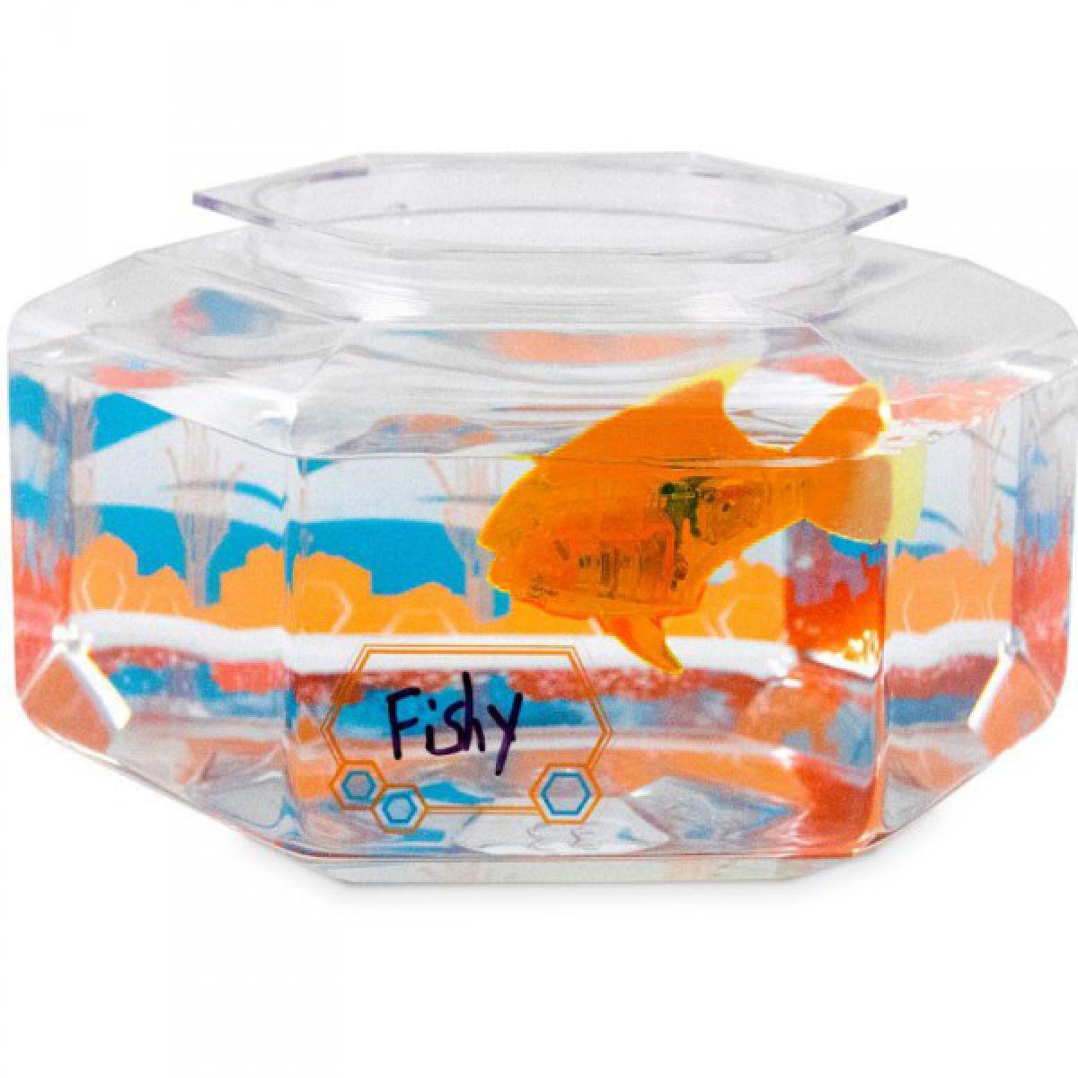 Hexbug Aquabot Led s akváriem - Piraňa oranžová
