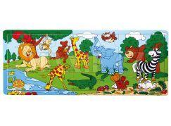 Hm Studio Deskové puzzle Zoo 21 dílů