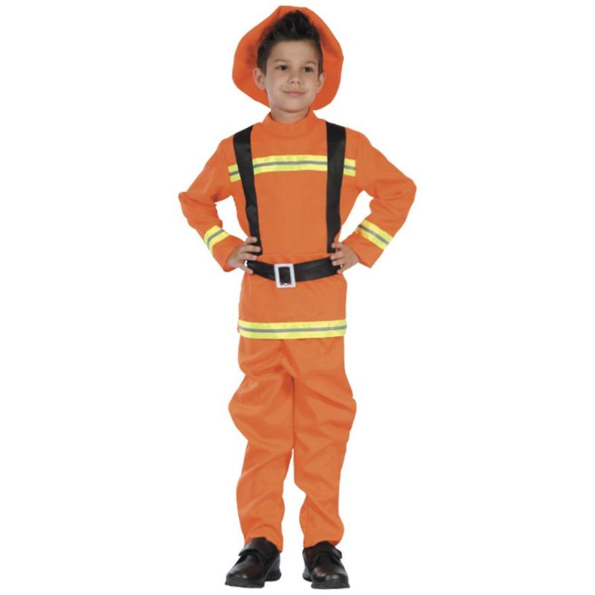 HM Studio Dětský kostým hasič, 130-140 cm