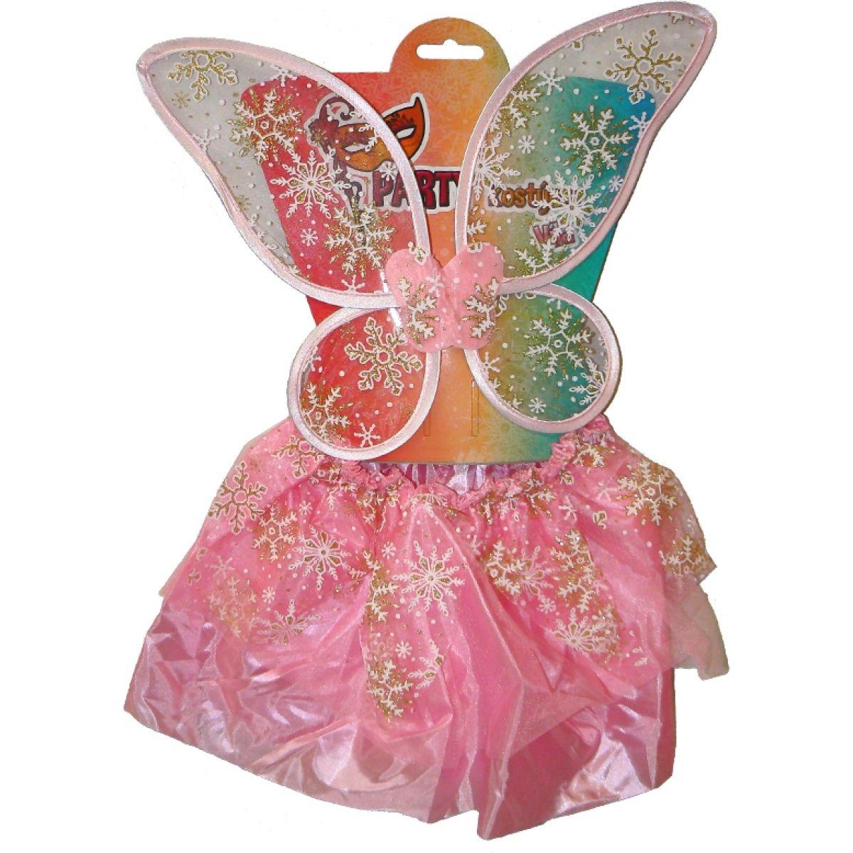 HM Studio Dětský kostým Růžová víla