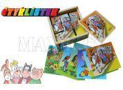 Hm Studio Kostky kubus Čtyřlístek 9ks