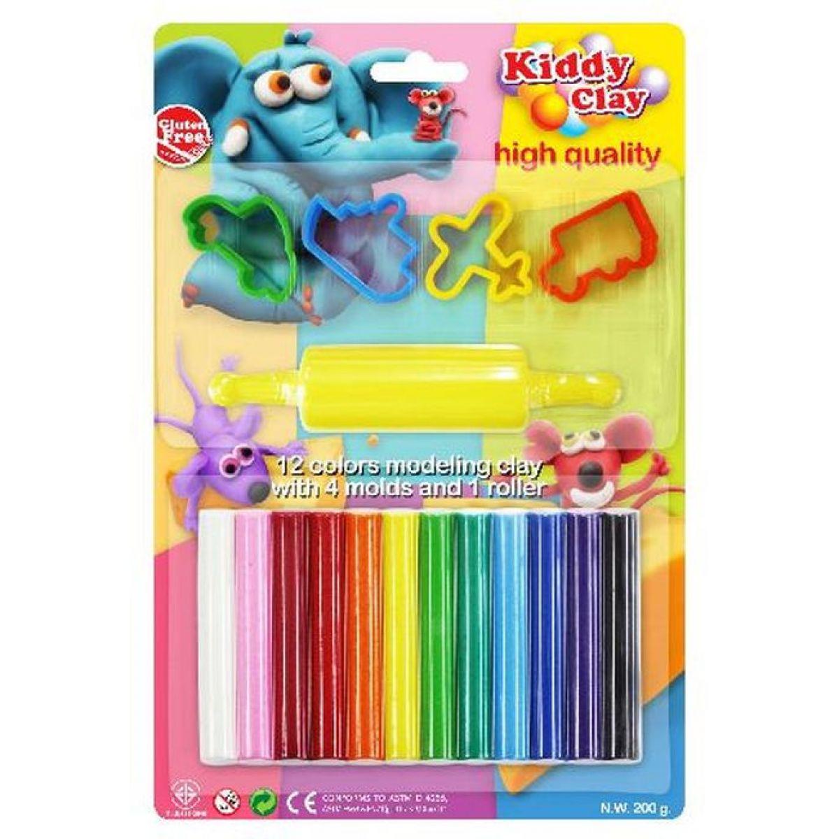 Hm Studio Modelovací hmota 12 barev, tvořítka, váleček