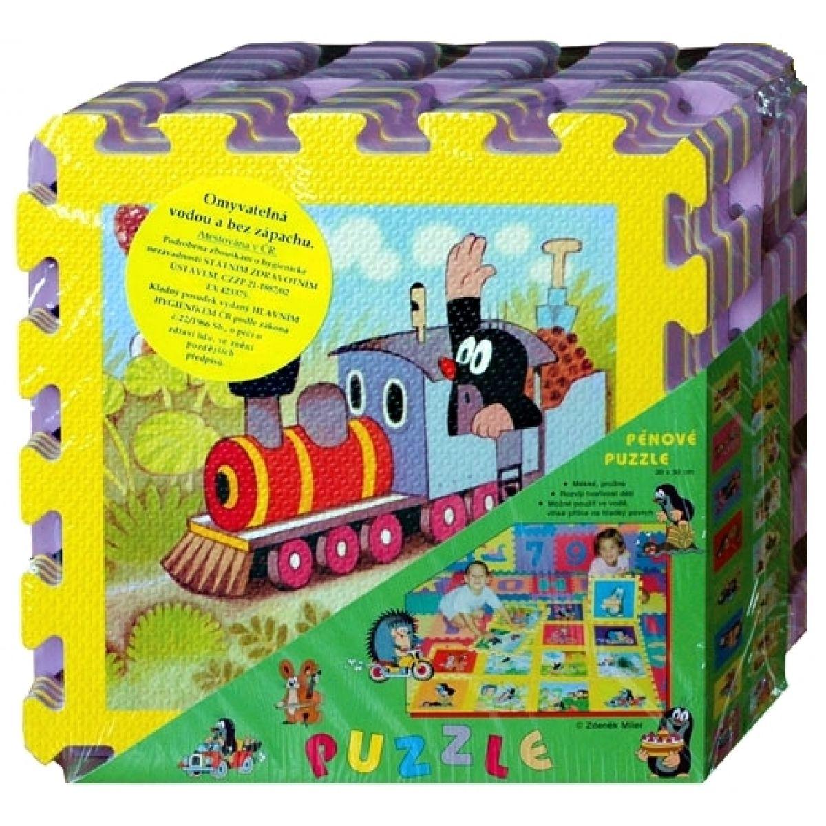 Hm Studio Pěnové puzzle Krtek 30x30cm
