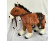 HM Studio Plyšový kůň světle hnědý 48cm