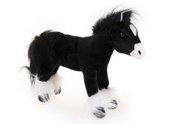 HM Studio Plyšový kůň černý 25cm