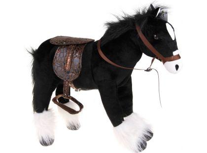HM Studio Plyšový kůň černý 48cm