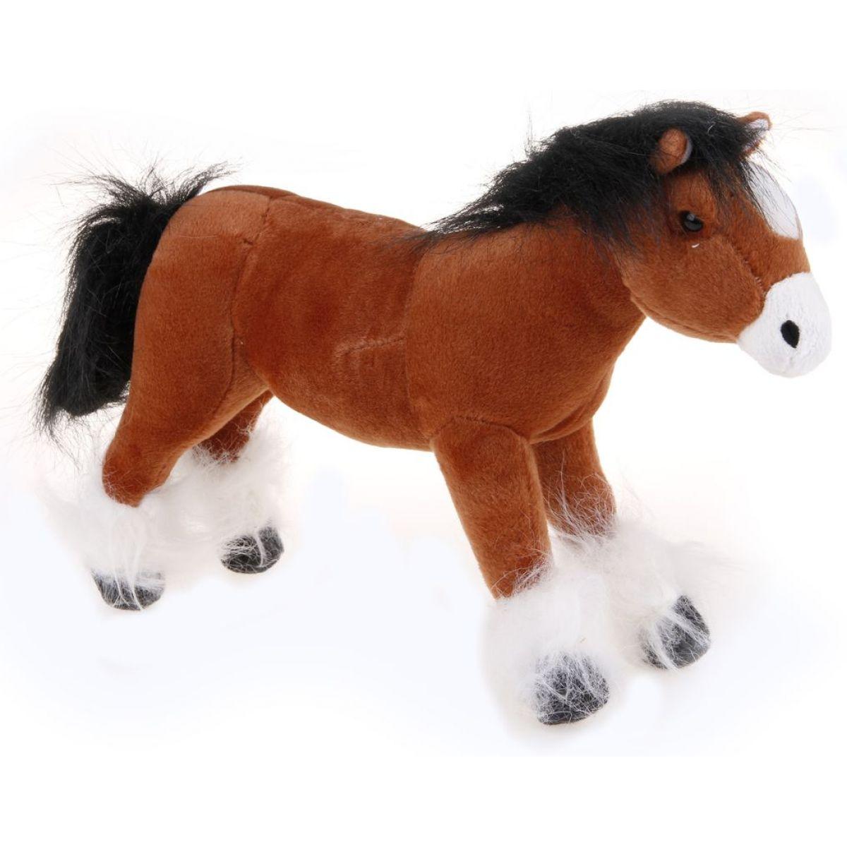 HM Studio Plyšový kůň světle hnědý 25cm