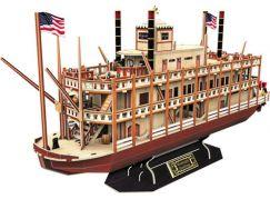 HM Studio Puzzle 3D Mississippi Steamboat - 142 dílků