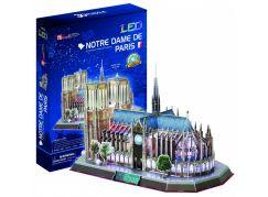 HM Studio Puzzle 3D Notre Dame de Paris LED 144 dílků - Poškozený obal