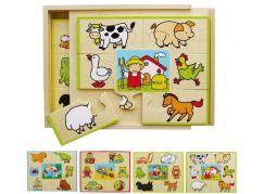 HM Studio Puzzle set 4 ks krabička