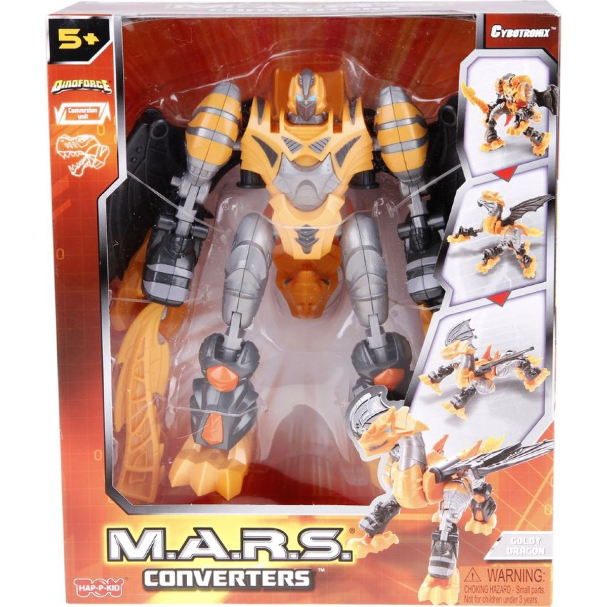 HM Studio Robot M.A.R.S. Converters Dino - Goldy Dragon