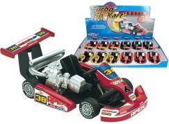 HM Studio Turbo Go Kart žlutá motokára