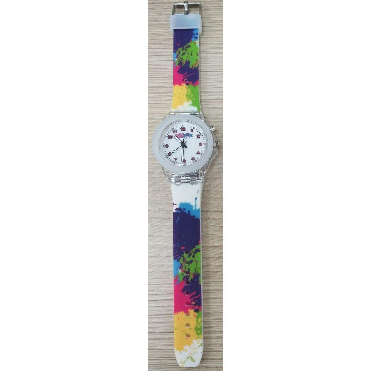 Hodinky Lollipopz s LED světlem barevný pásek