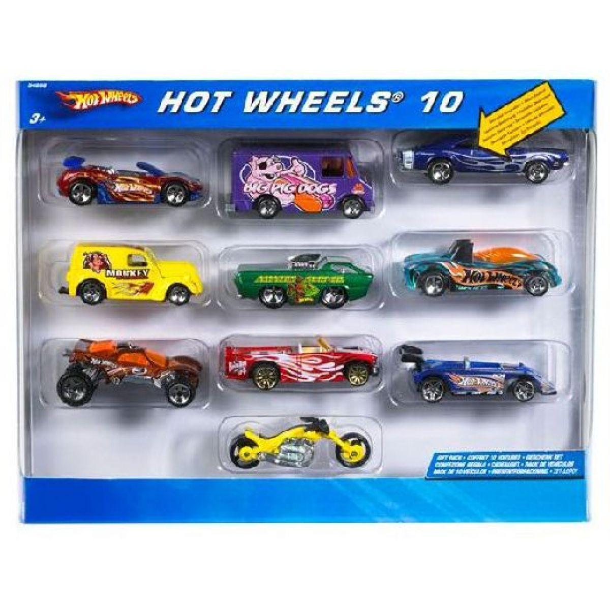 Hot Wheels Angličáky 10 Pack
