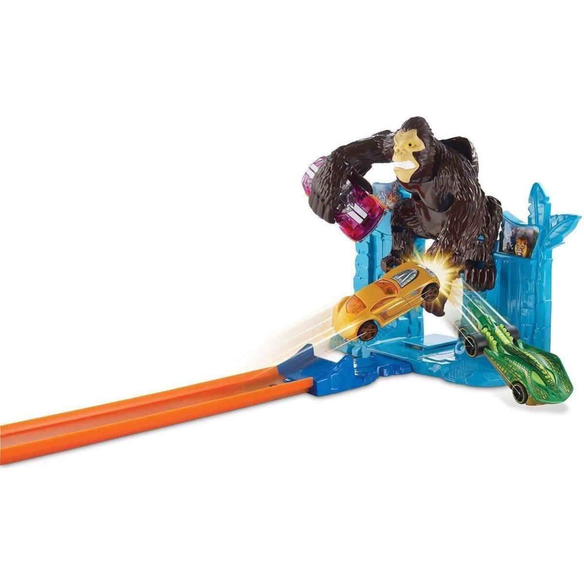Hot Wheels BGH87 Dráha závodní překážky - Gorilla Getaway