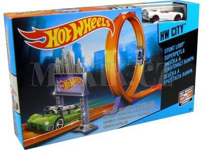 Hot Wheels BGH87 Dráha závodní překážky - Smyčka a startovací rampa