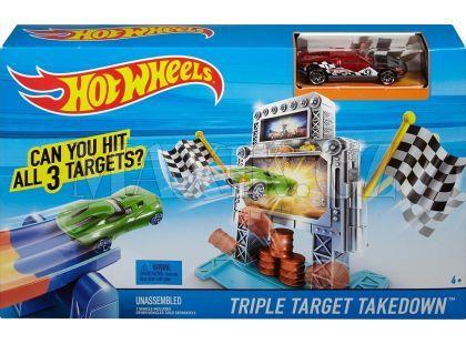 Hot Wheels BGH87 Dráha závodní překážky - Trojtý zásah