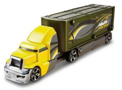 Hot Wheels Havarující tahač žlutá kabina