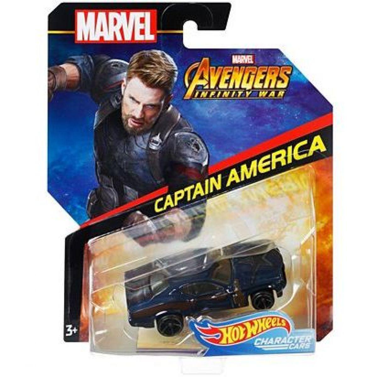 Hot Wheels Marvel kultovní angličák Captain America 2
