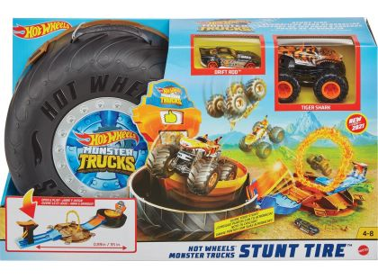 Hot Wheels Monster trucks kaskadérské kousky herní set