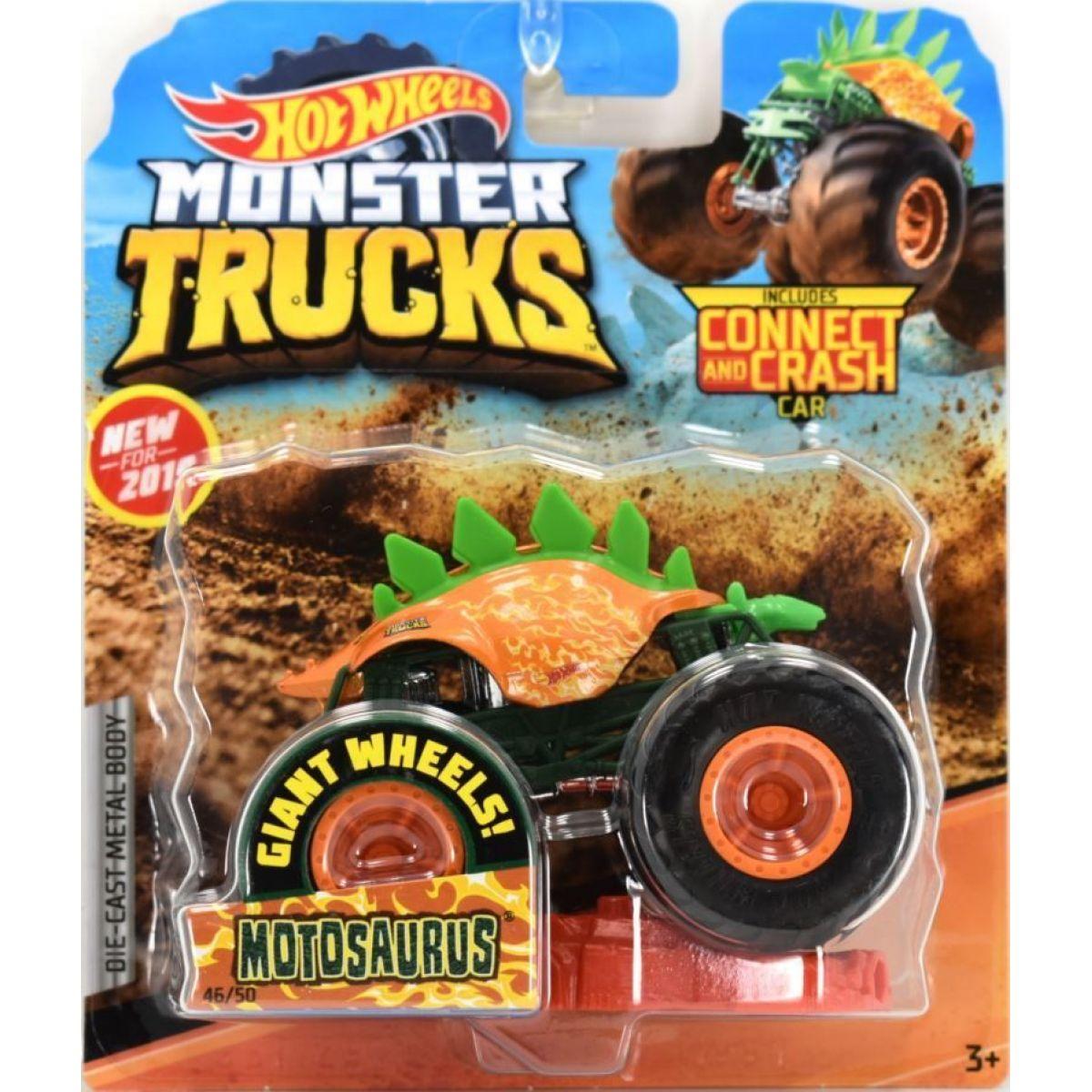 Hot Wheels Monster trucks kaskadérské kousky Motosaurus oranžový