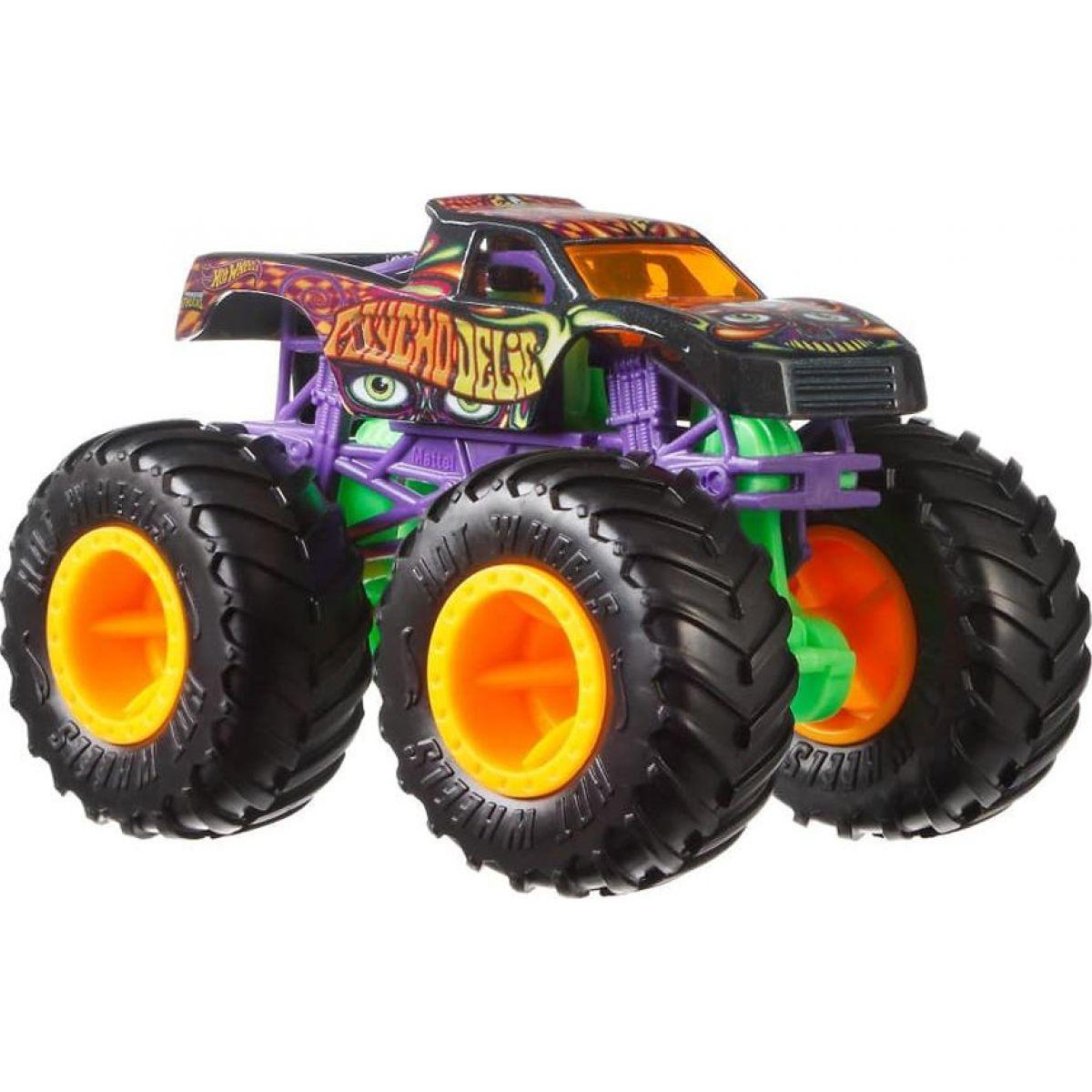 Hot Wheels Monster trucks kaskadérské kousky Psycho Delic