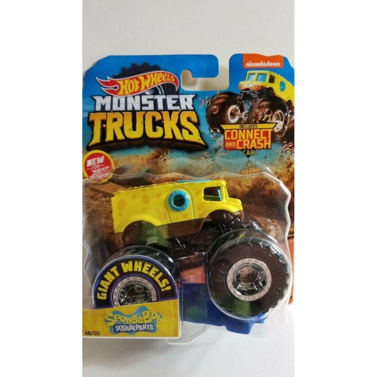 Hot Wheels Monster trucks kaskadérské kousky Spongebog Squarepants